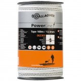 Gallagher PowerLine lint 12,5mm wit 100m