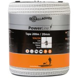 Gallagher PowerLine lint 20mm wit 200m
