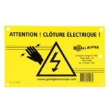 Gallagher waarschuwingsbordje België