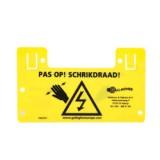 Gallagher waarschuwingsbordje NL
