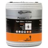 Gallagher PowerLine lint 12,5mm wit 200m