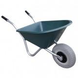 Kinderkruiwagen Kunststof 35L Groen met anti-lek wiel