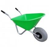 Kinderkruiwagen Kunststof 35L Lime Groen met anti-lek-wiel