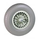 Kruiwagenwiel PVC anti-lek grijs (19cm aslengte)