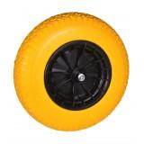 Kruiwagenwiel PVC anti-lek geel (13cm aslengte)