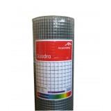 ArcelorMittal Voliere gaas Quadra (Vierkant Gelast Gaas) 12,7 * 0,8mm 50cm 25m Verzinkt