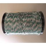 Schrikkoord groen/wit 200m 6 RVS draden