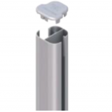 HoriZen basispaal 1500mm antraciet RAL7016 hoekpaal beton