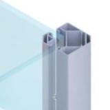 HoriZen klempaal 1050mm antraciet RAL7016 hoekpaal beton of voetstuk