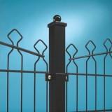 Decofor Paal met boldop voetstuk 60x60mm 96cm zwart RAL 9005