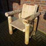 Lodge stoel kastanjehout