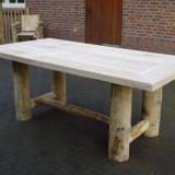 Lodge tafel kastanjehout 200cm