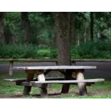 Boomstam picknicktafel Kastanje + Eiken 200cm