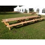 Douglas / Lariks Familie-xl-picknicktafel rustiek  600cm