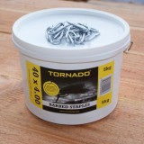 Tornado® krammen 40X4.00mm 5kg (met weerhaak)