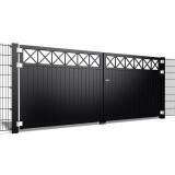 Dubbele poort Crosso V10 b200 x h150cm