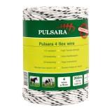 Pulsara flex koord 200m, 2 RVS wit